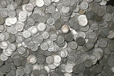 One Roll 90% Silver Roosevelt Dimes (50 Coins) 1946-1959   Lot K2