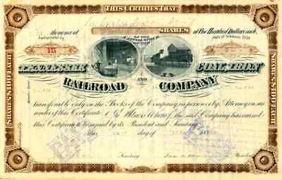 1886 Tennessee Coal Iron & RR (Early DOW) Stock Certificate