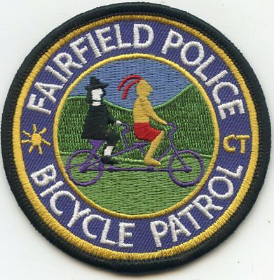 FAIRFIELD CONNECTICUT CT Indian Pilgrim BIKE BICYCLE PATROL POLICE PATCH