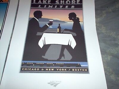 Lot of 2 Amtrak Route Posters-New.
