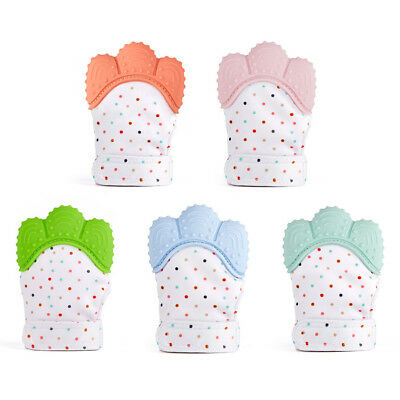 Good Kids Baby Silicone Mitts Teething Mitten Teething Glove Candy Wrapper Soft