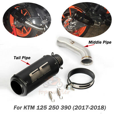 For 17-18 KTM DUKE 125 250 390 Full Set Exhaust Pipe Mid Connect Tube Motorcycle