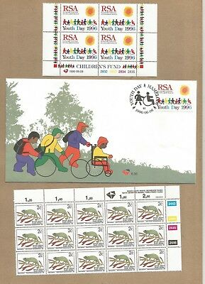 SA: FDC + 2 CBlocks (4 +15 MNH) + 4 used covers (See scans/read notes) (Ref 337)