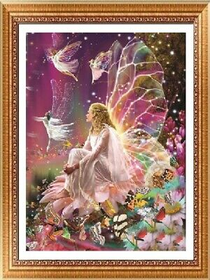 AU Fairy Full Drill DIY 5D Diamond Painting Embroidery Cross Stitch Kit Decor EA