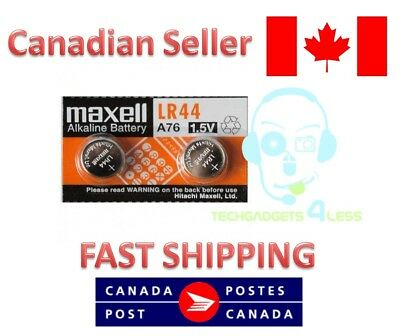 MAXELL ORIGINAL OEM (2pcs) LR44 A76 L1154 AG13 357 SR44 303 BATTERY