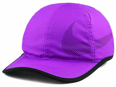 Nike Featherlight Perf Purple Unisex Dri-Fit Tennis Hat Cap (One Size Fits  Most 5c389bee86d1