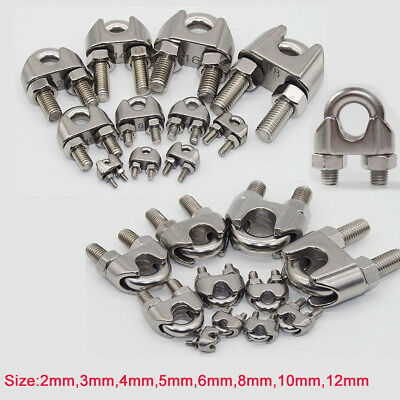 Wire Rope Grips U Bolt Cable Bulldog Clamp Stainless Steel 2 3 4 5 6 8 10 12mm