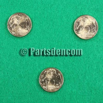2019 $1 dollar coin stamped privy mark A U S Whole set 3 coins cut from RAM bags