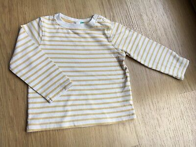 John Lewis Whote & Yellow Top 6-9 Months