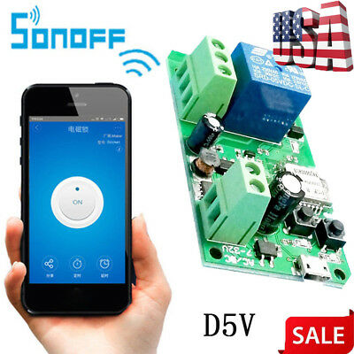 SONOFF WIFI WIRELESS Smart Switch Relay Module D5V for Home Apple Android  APP US