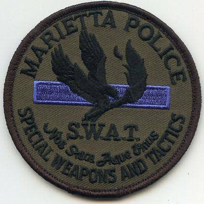 MARIETTA GEORGIA GA Special Weapons And Tactics SWAT POLICE PATCH