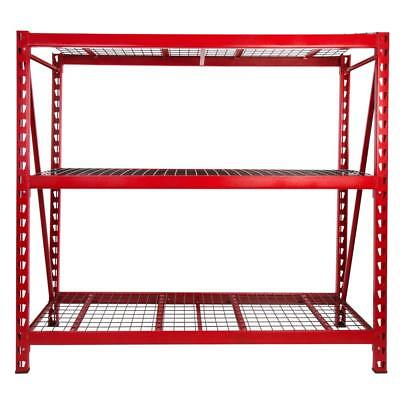 72 in. H x 77 in. W x 24 in. D 3-Shelves Steel Expandable Storage Rack Unit Weld