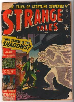 Marvel Strange Tales 7 G- 1.5 Who Stands In The Shadows Kirby Ditko Golden Age