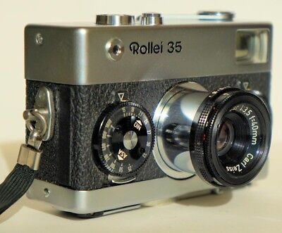 Rollei 35 Compact Full-frame 35mm camera with case, German made, Good condition