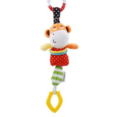 Baby Hanging Bell Stroller Toy Rattles Plush Bell Doll Bed Infant Appease Toy FI