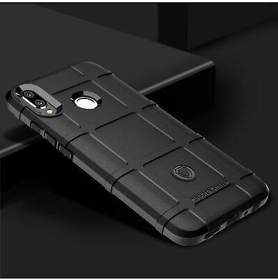 For Huawei Y9 2019, Shockproof Rugged Shield Armor Soft Rubber Case Cover Skin