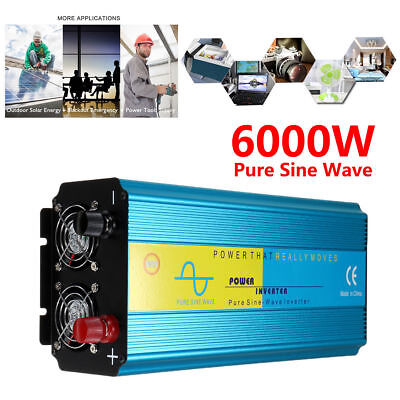 Onduleur 12V 220V 3000W 6000W Onde sinusoïdale pure Convertisseur Power Inverter