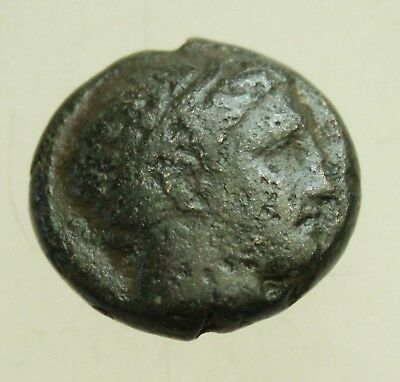 Kings of Macedon. Philip II 359-336 BC AE 19mm 6.7g Apollo / Youth on horseback