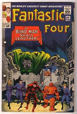 Marvel Comics FN+   FANTASTIC FOUR  #39  DR DOOM BLIND MAN