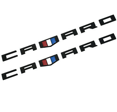 2x camaro Emblem Badges 3D Letter Replacement for Silverado Chevy Redline Black