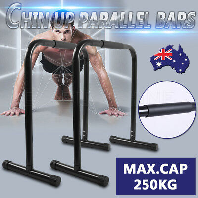 Parallel Bars Fitness Chin Up Dip Push Equaliser Cross Training Stand Home Gym