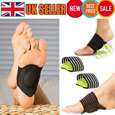 2x Foot Heel Plantar Fascitis Insole Pad Arch Support Cushion Pain Relief Care