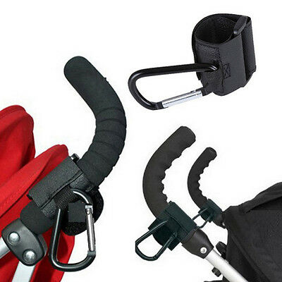 Baby Stroller Pram Wheelchair Accessory Pushchair Hanger Metal Black Hook