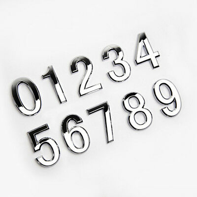 Self Adhesive Door Numbers Chrome Signs House Apartment Number Plaque
