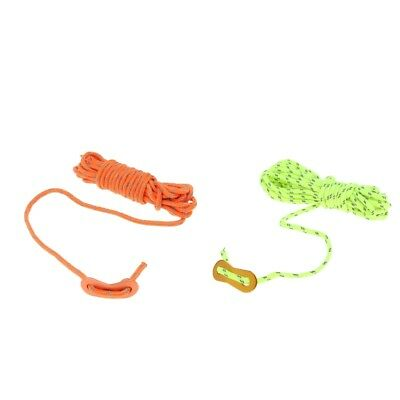 2x 4mm Reflective Cord Camping Hiking Tent Guyline Rope Outdoor General Use
