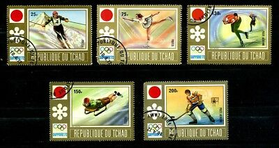 Chad Stamps 1972 Winter Olympics set CTO