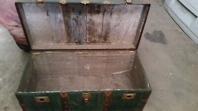 Old Antique Travel Trunk