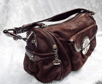 277e1b7712 KATHY VAN ZEELAND Red Faux Leather Shoulder Purse With Jewels Very ...