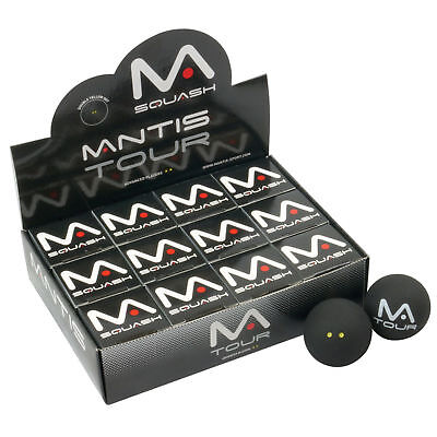 Mantis Tour Squash Balls - Double Yellow Dots - 1 Ball
