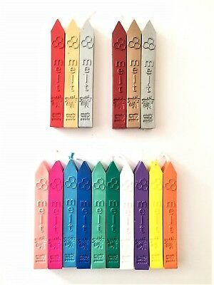 Single Wax Stick Seal Craft Sealing Traditional Lit Taper in 16 Colours TWS01-16