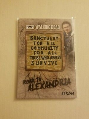 2018 Topps Amc The Walking Dead Road To Alexandria Aaron Sign Patch