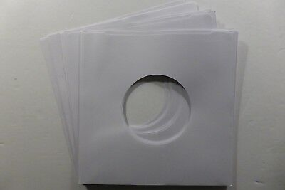 """25 x 7"""" White Paper Record Sleeves - Great Replacement Sleeves for 7"""" Singles"""