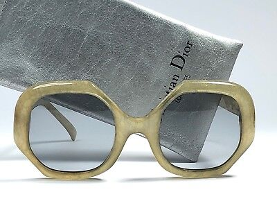 8ce7fdce4cb53 New Vintage Christian Dior 2031 61 Jasped Dark Green Light Lens 70 s Germany