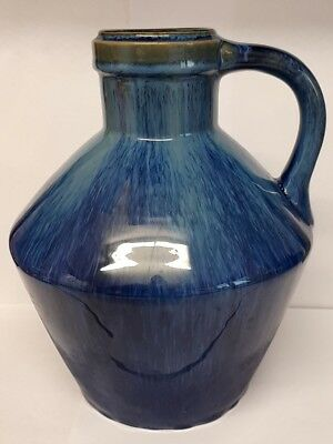 """Bourne Denby Danesby Ware Electric Blue Stoneware Jug 8 1/4"""" Tall."""