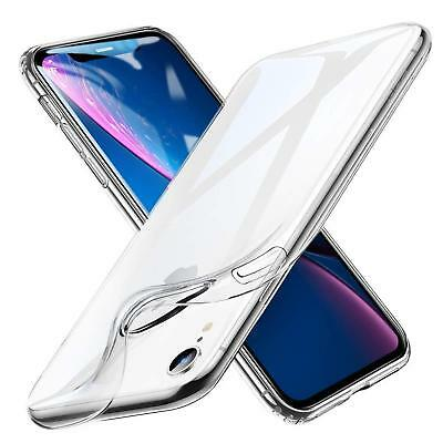Apple iPhone XR Thin Silicone Clear Case Cover Ultra Slim Shockproof Gel Back