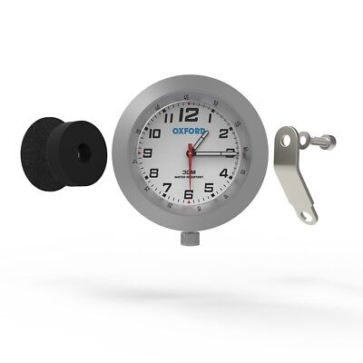 Oxford Anaclock Analogue Motorcycle Motorbike Clock Retro Silver