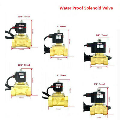 Brass Water Proof Outdoor Solenoid Valve For Underwater Fountain Normally Closed