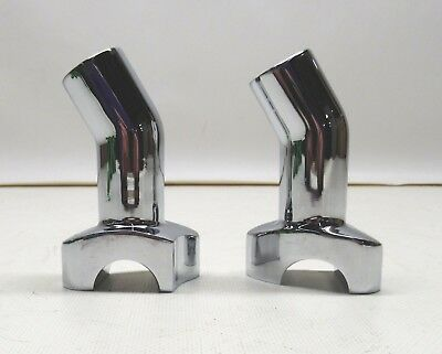 Drag Specialties 3 in. Chrome Risers with 1 1/4 in. Pullback - 0602-0408
