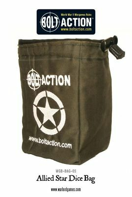 Warlord Games Bolt Action Allied Star Army Dice Bag and Green Order Dice 12