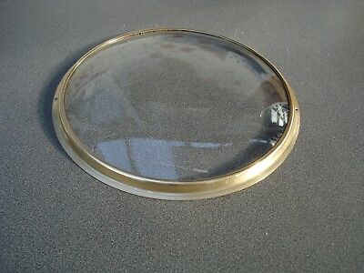 Wheel Barometer Spun / Pressed Brass Bezel & Convex Glass 217 Mm Dia Parts