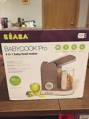 BEABA Babycook Pro Baby Food Maker Healthy Cook Steam Blend Reheat Defrost Meals