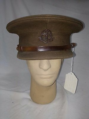 British WWII Middlesex Regiment Officers's Tommy Hat With Medal