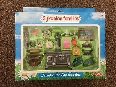 Bnib Rare & Htf Sylvanian Families Farmhouse Accessories