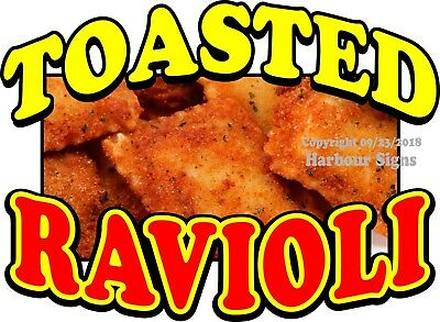 (Choose Your Size) Toasted Ravioli DECAL Food Truck Concession Vinyl Sticker