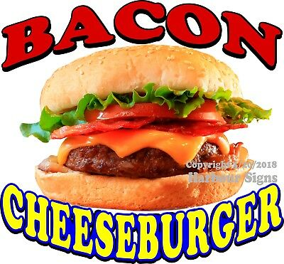Bacon Cheeseburger DECAL (CHOOSE YOUR SIZE) Food Truck Concession Sticker