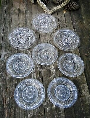Verreries De Scailmont Manage Belgique Lot 8 Coupelles Verre Pressé Moulé